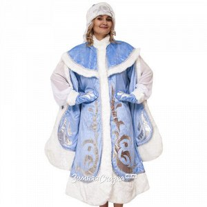Взрослый новогодний костюм Снегурочка Боярская, 44-48 размер (Бока С)