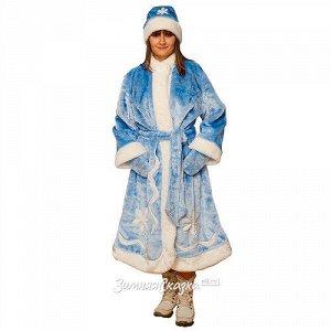 Взрослый новогодний костюм Снегурочка, 44-50 размер (Бока С)