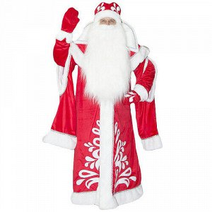 Взрослый карнавальный костюм Дед Мороз Боярский, 52-54 размер (Бока С)