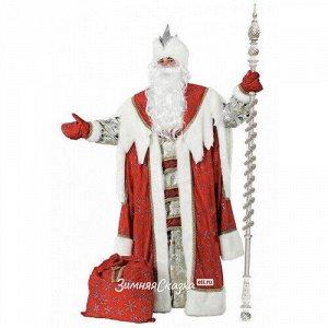 Карнавальный костюм для взрослых Дед Мороз Королевский, красный, 54-56 размер (Батик)