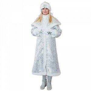 Взрослый новогодний костюм Снегурочка Царская, 44-48 размер (Бока С)
