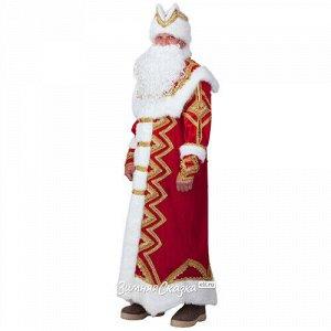 Карнавальный костюм для взрослых Дед Мороз Великолепный, 54-56 размер (Батик)