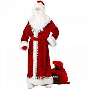 Карнавальный костюм для взрослых Дед Мороз велюровый, 54-56 размер (Батик)