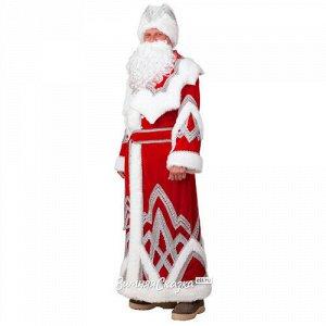 Карнавальный костюм для взрослых Дед Мороз с вышивкой, 54-56 размер (Батик)