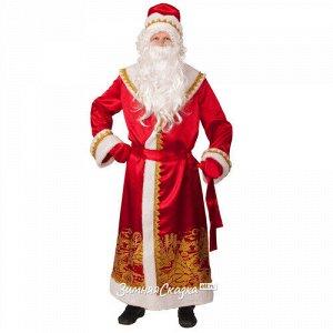Карнавальный костюм для взрослых Дед Мороз сатиновый, 54-56 размер (Батик)