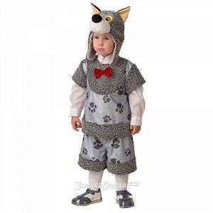 Карнавальный костюм Волчонок Кирюшка, рост 104 см (Батик)