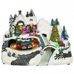 Светящаяся композиция Winter Village: Зимний Карнавал 24*16*15 см, с движением (Kaemingk)