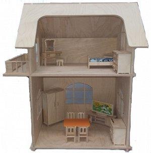"""Альтаир. Набор кукольный """"Двухэтажный дом"""" арт.СДМ-23 (без мебели)"""