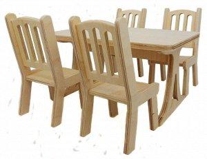 """Альтаир. Набор мебели """"Стол + 4 стула"""" арт.МК-001 (дерево) малый"""