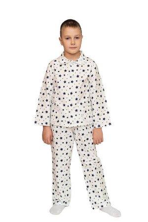 Пижама для мальчика, модель 307, фланель (Звезды 18850-1)