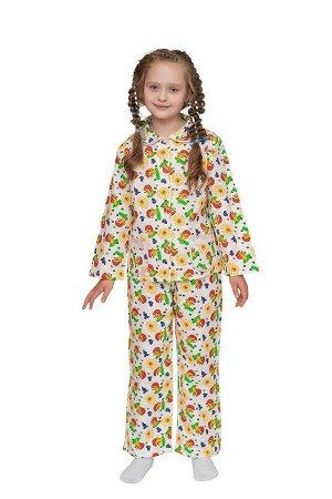 Пижама для девочки, модель 307, фланель (Солнечный день)