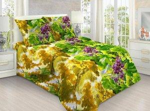 """Комплект постельного белья 1,5-спальный, бязь """"Люкс"""" (Солнечный виноград 3 D)"""
