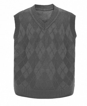 Серый жилет для мальчика Цвет: серый