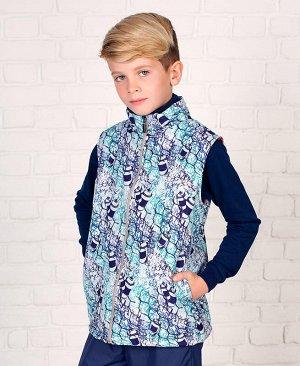 Теплый жилет для мальчика Цвет: фиолет