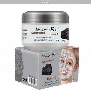 Глиняно-Пузырьковая маска для лица Dear She Вubble Charcoal 100g