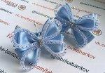 Бант для девочек Баттерфляй голубой