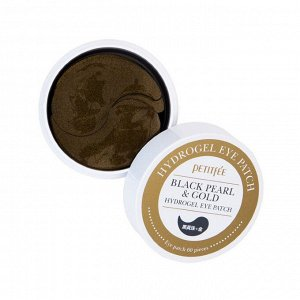 PETITFEE Набор патчей д/век гидрогел. ЖЕМЧУГ/ЗОЛОТО Black Pearl&Gold Hydrogel Eye Patch, 60 шт