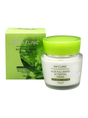 3W CLINIC Крем для лица Aloe Full Water Activating  50 гр