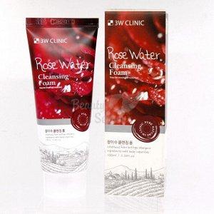 3 W CLINIC Пенка очищающая  Foam Cleansing [Rose Water] 100 мл