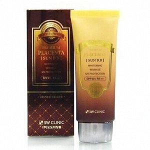 3W CLINIC BB крем солнцезащитный против морщин с плацентой BB cream Premium Placenta, 70 гр