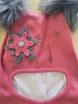 Шапка для девочки, цвет пыльная роза