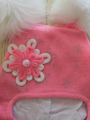 Шапка для девочки, цвет розовый