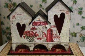 """Чайный домик """"Тройной с сердцами"""""""