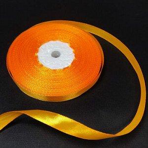 Лента атласная Яичный желток (17) 10 мм, 30 метров