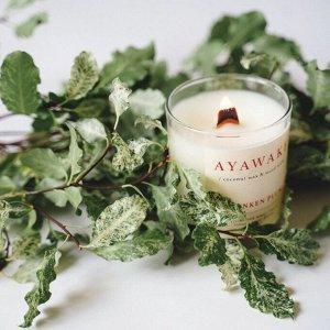 Ароматическая свеча -  ПЬЯНАЯ СЛИВА 250 мл (деревянный фитиль, кокосовый воск)