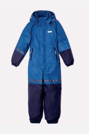 Комбинезон(Осень-Зима)+boys (синий, геометрия)