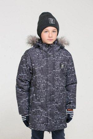 Куртка(Осень-Зима)+boys (черный, абстракция)