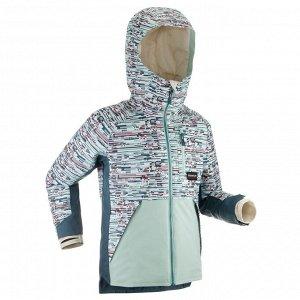 Куртка детская для сноуборда и лыж SNB JKT 500 бирюзовая DREAMSCAPE