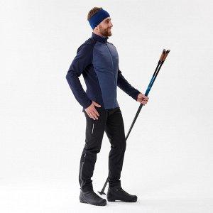 Куртка для беговых лыж мужская темно-синяя облегченная XC S 550 INOVIK