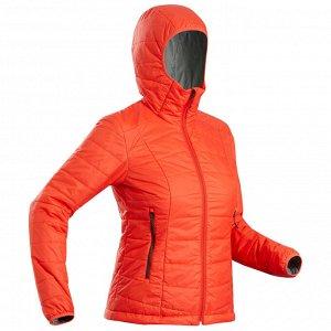 Куртка для треккинга в горах с капюшоном женский TREK 100 красная FORCLAZ