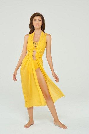Платье Специально скроенная сетка-мэш, которая с помощью прилагаемого или любого другого кольца-браслета превращается в элегантное пляжное платье. Дополнительная возможность использования в качестве п