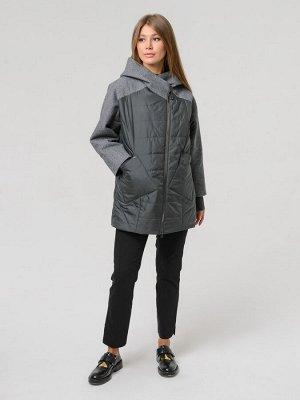 Деми 89147058597 - звонить участнику!  графит!Графит Укороченная демисезонная куртка с капюшоном. Особенностью модели является комбинация двух видов ткани: пальтовой и плащевой. Трикотажные манжеты ру