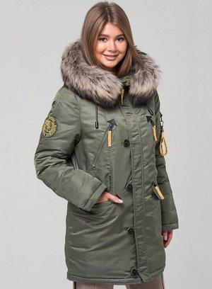 Парка зима 8914667314015- звонить участнику!  хаки Д.р (S) 64см Д.изд 81см Стильная женская аляска от норвежского бренда Fergo Norge, которая максимально обеспечивает владельцу защиту от холода и комф