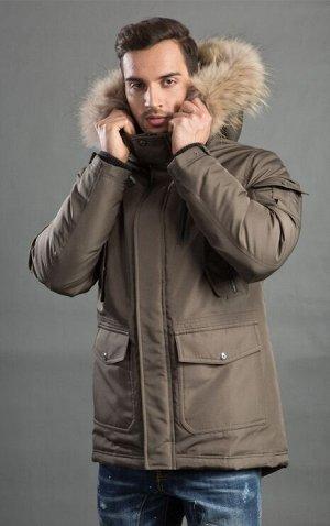 Мужская зимняя куртка-парка с капюшоном от Hermzi
