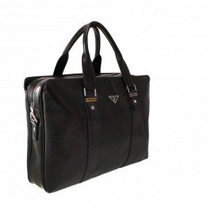 Мужская сумка Guan_trip из эко-кожи с ремнем через плечо кофейного цвета.