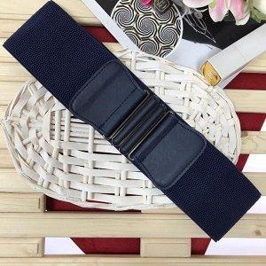 Ремень-резинка Farfalla Nera из качественного текстиля дымчато-синего цвета.