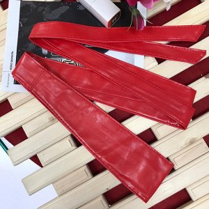 Экстравагантный пояс-кушак Leticia_Gualli из мягкой эко-кожи  клубничного цвета.