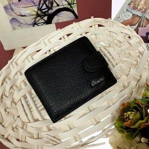 Мужской кошелек Deway из натуральной кожи чёрного цвета.