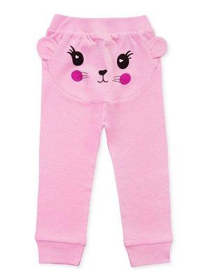 Штанишки Цвет: Розовый; Рисунок: Мордочка; Материал: Хлопок 100%; ТИП ТКАНИ: Рибана Очаровательные ясельные штанишки с симпатичной мордочкой сзади и пришитыми ушками. На поясе широкая удобная резинка,
