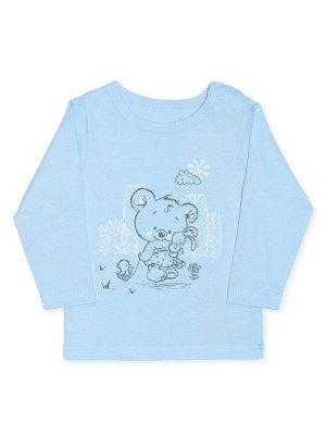 Кофточка Цвет: Голубой; Рисунок: Мишка; Материал: Хлопок 100%; ТИП ТКАНИ: Кулирка Отличная кофточка из тонкого 100% хлопка - кулирки. Кофточка украшена прелестным рисунком с мишкой. На одном плече име