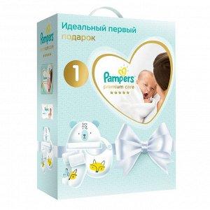 ПН PAMPERS Подг PremCare Newborn (2-5кг)Упак72+Дет влажные салф Sens 12+ДетНосочк+Шапочка+Нагрудник