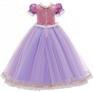 Детское платье, светло-фиолетовое