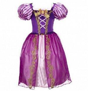 Детское платье, фиолетовое, платье принцессы