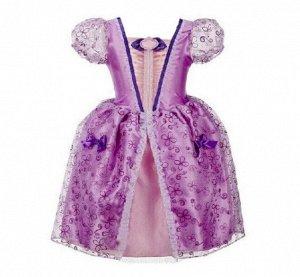 Детское платье, сиреневое, платье принцессы