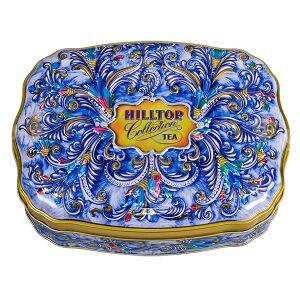 Чай чай HILLTOP волнистая банка 'Сверкающие самоцветы' ж/б 100 г Чай черный байховый цейлонский крупнолистовой, чабрец.