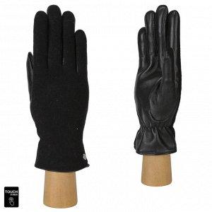 Перчатки, комбинированная кожа, FABRETTI FS3-1 black